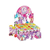 Henbrandt Unicorn Bubble Pots Girls Bubbles Party Bag Loot Bag Garden Game Stocking Fillers Toy (6 Pots)