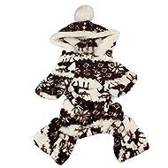 Doggy Apparel Vêtements, Malloom 1PC Nouveau chien de chien élégant Warm vêtements Puppy Jumpsuit Hoodie Manteau (XL, Café)