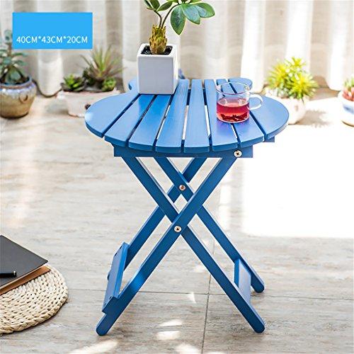 YANZHEN Balcon table pliante en bois massif en plein air Table basse portable table basse petite table carrée Porte-fleurs Etagère de Fleur ( Couleur : D )