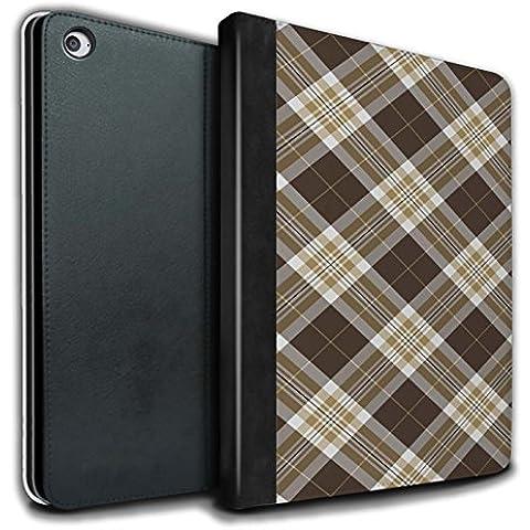 Stuff4 PU Cuero Funda/Carcasa/Folio Libro en Para el Apple iPad Air 2 tablet / serie: Picnic Tartán Diseño -