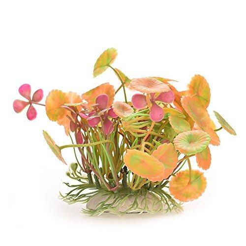 danmu Art 2Ein Set zufällige Farbe Kunststoff Künstliche Wasserpflanzen Aquarium Pflanzen für Fische Tank Dekoration Home Décor