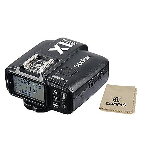 Godox X1T 2.4G Transmetteur sans fil i-TTL LCD Flash E-TTL pour appareil photo Canon/Nikon/Sony