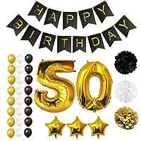 Set Palloncini 50° Compleanno da Belle Vous   Questo set di palloncini per compleanno trasformeranno una normale festa di compleanno in quella del secolo; con ben 32 pezzi potrai essere sicuro di organizzare l'evento più memorabile dell'anno...