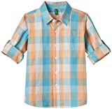 United Colors of Benetton Baby Boys' Shirt (15P5GE05Q5R0G9010Y_White and orange_0Y)