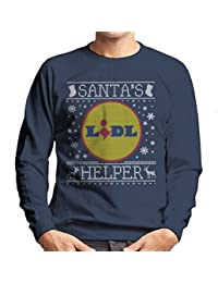Coto7 Santas Lidl Helper Christmas Jumper Knit Pattern Mens Sweatshirt