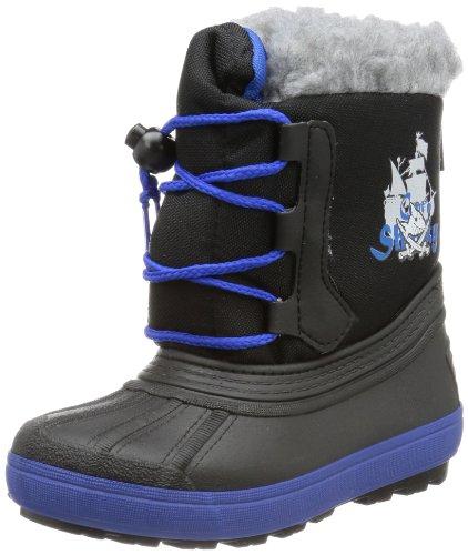 Captn Sharky 120090, Bottes de ski garçon Noir - Schwarz (schwarz/blau 1)