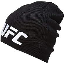 Reebok UFC Beanie Gorro, Hombre, Negro, Talla Única