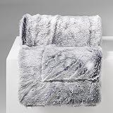 Douceur d 'Intérieur–Manta, poliéster, gris, 220x 180cm