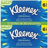 Kleenex - Tejido facial - 6 cajas de 88 - Juego de 2