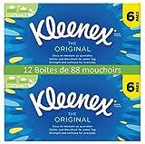 Kleenex Original Kosmetiktücher, 88Tücher pro Box, 2Packungen mit je 6Boxen
