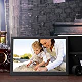 OLDTIME@ 12inch LED Digital Picture Photo Frame Aluminum Frame HD Wide Screen Slideshow Clock Music Video Player with Remote Control 1280*800 High Resolution Gift Present