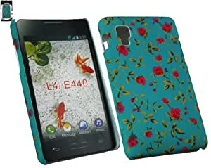 Emartbuy® LG Optimus L4 II E440 Rose Garden Harte Rückseite Protection Schutzhülle / Cover / Haut