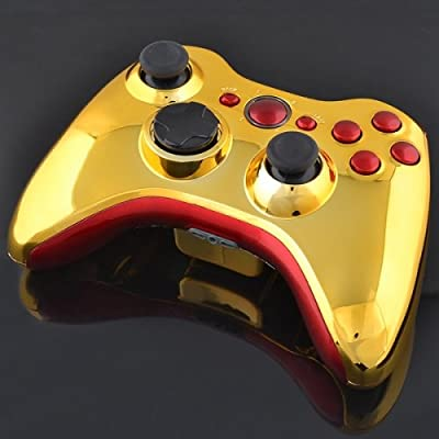 Xbox 360 Wireless Controller - Chrome Gold with Chrome Red Buttons