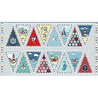 Makower - Sea Breeze - Cotton Fabric Bunting 60cm Panel
