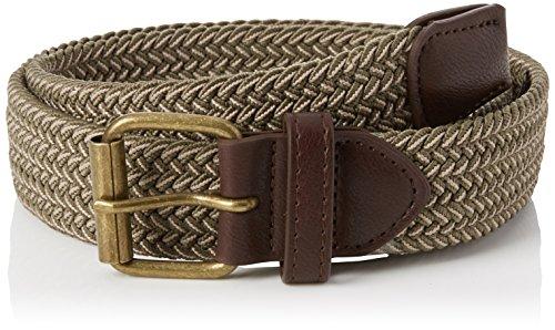 New look elasticated, cintura uomo, verde (dark khaki 34), small (dimensioni produttore:small-medium)