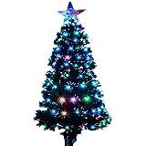 AUFUN Künstlich Weihnachtsbaum mit Lichterkette 180cm Künstlicher Weinachts Baum Deko Tannenbaum Weiß PVC mit Metallständer ca. 220 Spitzen Lena Weihnachtsdeko