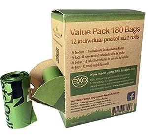 Simply Pets Gassibeutel /  biologisch abbaubar, umweltfreundlich, kompostierbar, 180 Beutel (12 Rollen mit je 15 Beuteln)