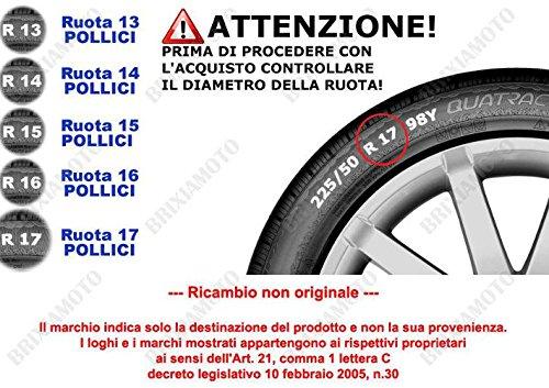 SET 4 BORCHIE RUOTA COPRI CERCHI CALOTTE 13 GTX GRAFITE PER FIAT PANDA