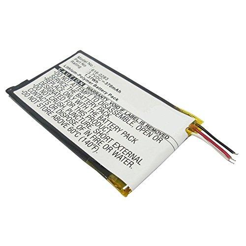 subtel® Qualitäts Akku kompatibel mit Apple iPod Nano 2 Gen. A1199 (370mAh) 616-0282,616-0283 Ersatzakku Batterie Apple Ipod Nano 2. Generation