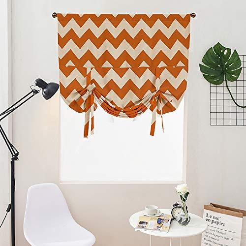 Clothink HxW:140x100cm Raffrollo Schlaufen Gardinen Voile Vorhänge Orange