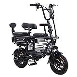 Wheel-hy Bicicleta eléctrica Plegable, Unisex Adulto, 350W, Batería 48V 20Ah