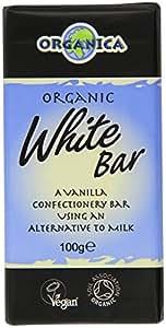 Organica White Organic Chocolate Bar 100 g (Pack of 3)