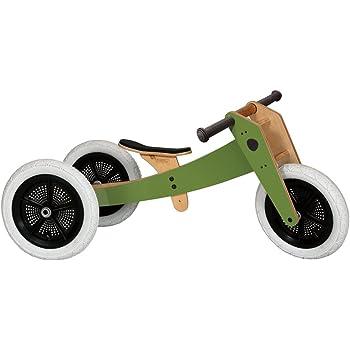 Wishbone 1012 - Triciclo in legno 3 in 1, colore: Verde