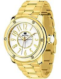 Glam Rock Damen Aquarock 42mm Goldton Stahl Armband vergoldet Quarz Fall Weiß Zifferblatt Armbanduhr gr50010F