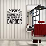 Vinyl Wall Decal Barber Zitat sagen Barbershop Hair Salon Interior Aufkleber Wandbild Hair Cut...
