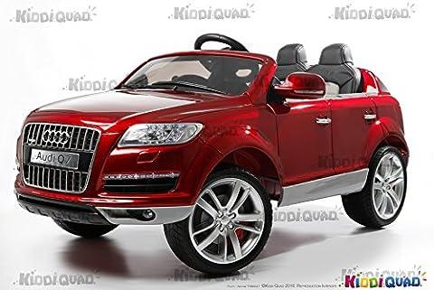 Audi Q7 Rouge métallisé, 1 place, voiture électrique enfant, 12V7AH