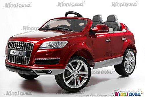 Audi Q7, color rojo metálico, 1 plaza, coche eléctrico niños, 12 V7Ah - 2 motores