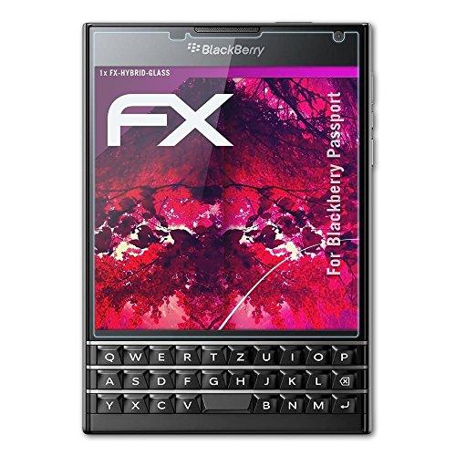 atFolix Glasfolie kompatibel mit BlackBerry Passport Panzerfolie, 9H Hybrid-Glass FX Schutzpanzer Folie