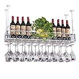 GUOOK Etagère Murale en métal pour Bar à vin |Porte-Bouteille de vin Suspendu...
