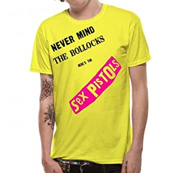 Sex Pistols Never Mind The Bollocks Extra Large Adult T Shirt Yellow