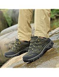 outdoor Zapatos De Senderismo De Cuero De Verano Al Aire Libre, Zapatillas De Deporte De Gran Tamaño, Zapatos Casuales para Caminar,Ejercito Verde,41