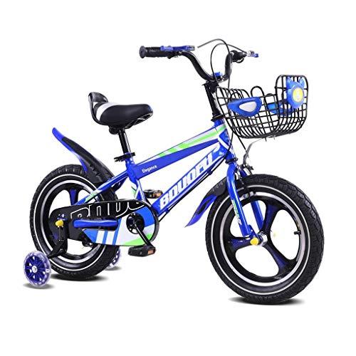 TD Kinderfahrrad 14.12.16 Zoll Männer Und Frauen Kind Kinderwagen Fahrrad Fahrrad V0017 (Color : Blue, Size : 14 inches)