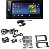 Pioneer AVH-A210BT USB Autoradio Touchscreen Bluetooth Moniceiver Autoradio CD DVD MP3 Freisprecheinrichtung WAV AUX AAC DivX Einbauset für Mercedes W211 CLS W219