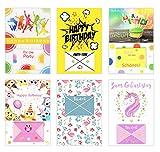 Edition Seidel Set 6 exklusive Premium Geldscheinkarten Geldkarten zum Geburtstag mit Umschlag. Glückwunschkarte Grusskarte Geburtstag Geburtstagskarte Karten Happy Birthday Geld Geschenk (Set 4)