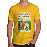 TWISTED ENVY Herren T-Shirt The Wizard Of Oz First Edition Cover Print X-Large Gelb