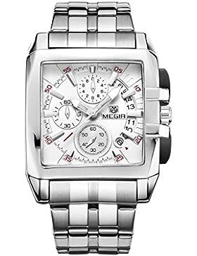 MagiDeal Multifunktional Herren Uhr Armbanduhr Automatikuhren 12-Stunden-Anzeige Uhr