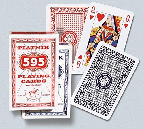 Bavaria-Home-Style-Collection Standard Bridge, Rommé, Canasta Spielkarten mit Leinenprägung - Piatnik Leinen Karten - 2 x 55 hochwertigen Spielkarten - Geschenk Ideen für Kartenspieler