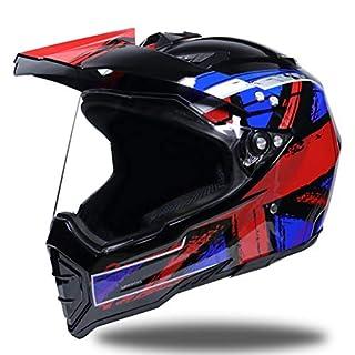 Shorkproof Off Road Vollgesichtsmotorradhelm Erwachsene Motorradhelme mit Windschutz Windproof Anti-Fall-Sicherheit Motocross-Kappen 23 Farben