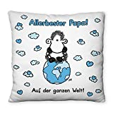 """Sheepworld 44009 Kissen """"Allerbester Papa! Auf der ganzen Welt!"""""""