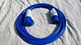15m Long Caravan Motorhome Camping Electric Hook Up Cable Extension Lead - Blue