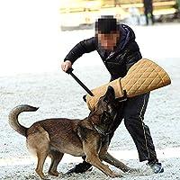 Training Chien Mordant Manches Morsure Equipement d'Education Manche de avec poignée Protection Baton Parure de Dressage Double Couche Jute Protection