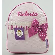 Conjunto guardería o Colegio: Mochila + Bolsa de merienda lenceras Personalizadas con Nombre en plastificado