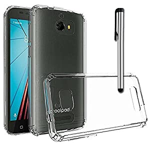 Coolpad Defiant Case, Anbel Premium Slim Fit TPU Silicone Gel Rubber Soft Skin Silicone Protective Case Cover for Coolpad Defiant(Transparent)