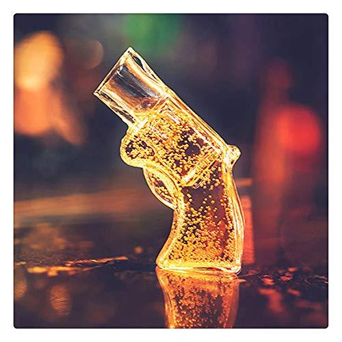 Z-one 1 3Pcs Revolver Shot Whisky Glas, Pistole Wein Wodka Bierglas Trinkglas, 2 Unzen