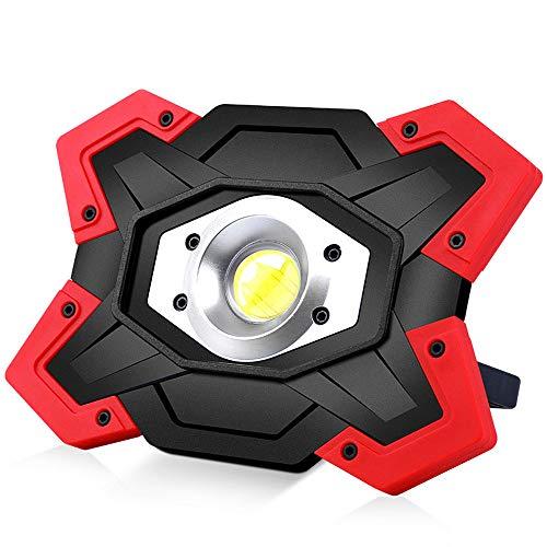 YYBT COB Lantern LED Searchlight, USB Charging Zelt Camping Light 6600mah Mobile Power mit wasserdichter Scheinwerfer 180 ° Rotationsbrüstung, geeignet für Camping Bergsteigen Tourismus Patrouille 6600 Usb