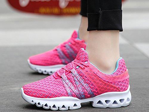 IIIIS-R Uomo Scarpe da Ginnastica Corsa Sportive Running Sneakers Fitness Interior Casual allAperto rosa